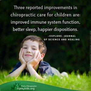 """child chiropractor visit benefits"""