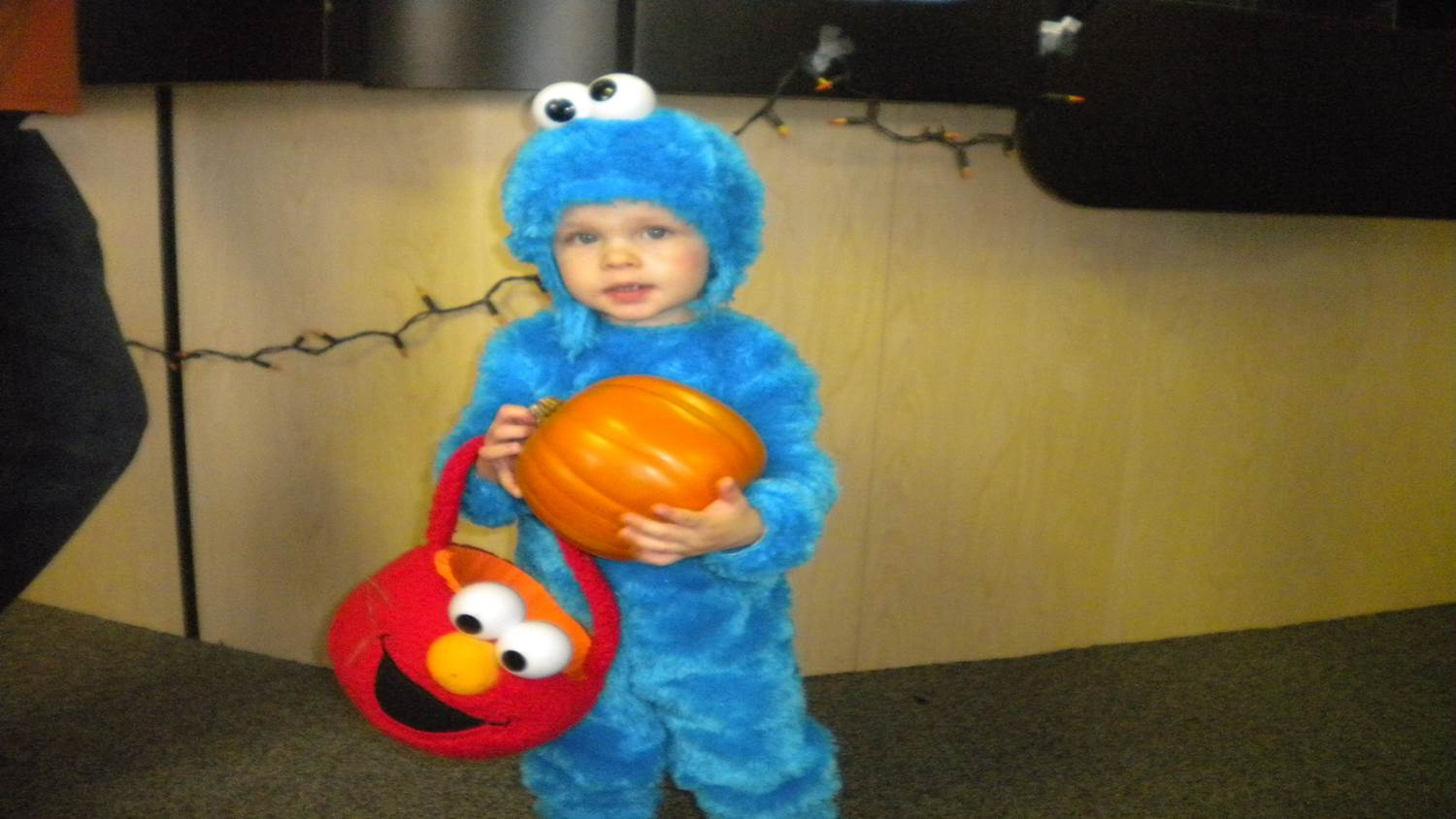 """baby cookie monster"""