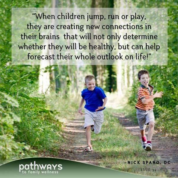 """""""children running wooded path"""""""
